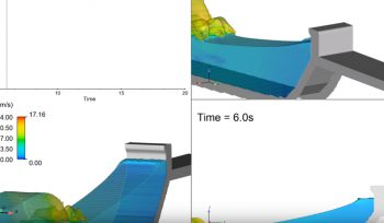JBA Wave Overtopping Sea Wall CFD Modelling example