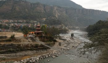 Beni, a small town in the foothills at the confluence of two high energy rivers