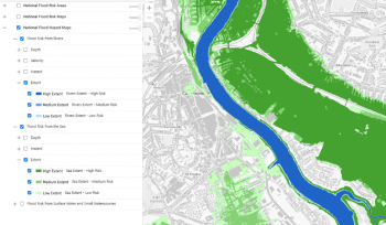 National Flood Hazard and Risk maps for Wales