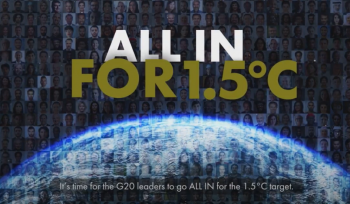 JBA joins call for G20 leaders to keep global temperature rise to 1.5°C